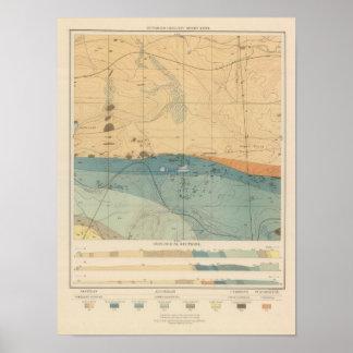 Hoja detallada XXXVI de la geología Póster