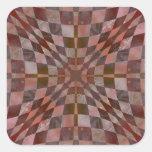 Hoja edredón noviembre de 2012 pegatinas cuadradas personalizadas