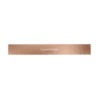 Hoja-Efecto color de rosa hermoso del oro Cintas Para Invitaciones