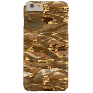 Hoja-efecto metálico del oro funda para iPhone 6 plus barely there