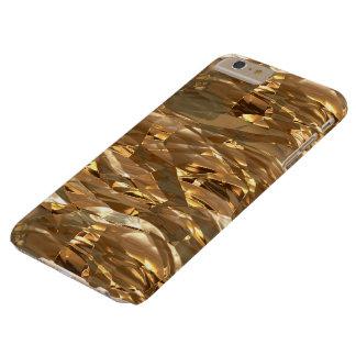 Hoja-efecto metálico del oro funda de iPhone 6 plus barely there
