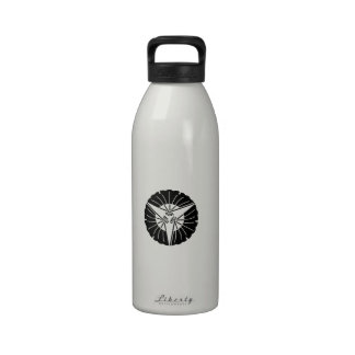 Hoja en abanico del ginkgo botella de agua reutilizable