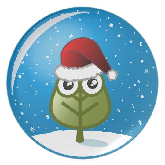 Hoja en globo de la nieve platos para fiestas