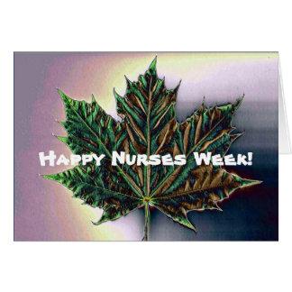 Hoja feliz del Semana-Arce de las enfermeras Tarjeta De Felicitación