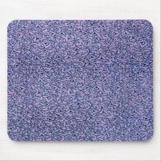 Hoja floral azul de la lavanda del vintage alfombrilla de ratón