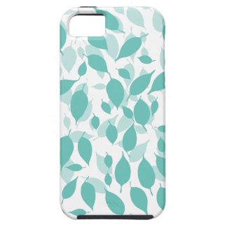 Hoja floral decorativa iPhone 5 carcasas