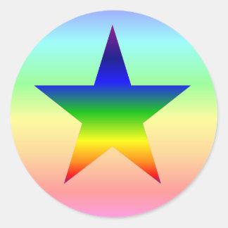 Hoja grande de los pegatinas de la estrella del pegatina redonda