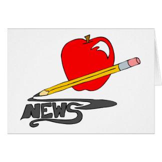 Hoja informativa de la escuela tarjeta de felicitación