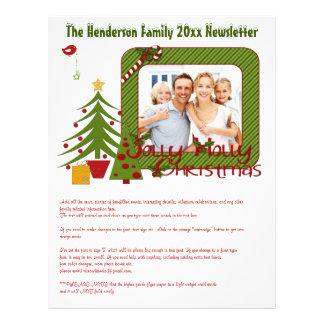"""Hoja informativa festivo del navidad con las fotos folleto 8.5"""" x 11"""""""