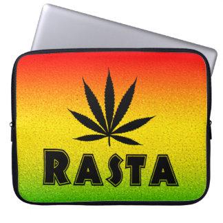 Hoja jamaicana de Rasta del reggae manga del Funda Computadora