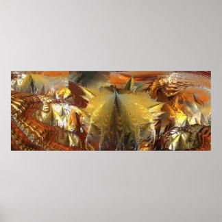 HOJA MANDELBULB 3D del GOLPEADOR del CARAMELO Póster