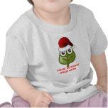 Hoja - mensaje de encargo del navidad camiseta