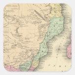 Hoja meridional de África Pegatina Cuadrada