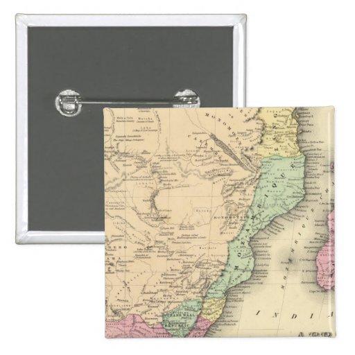 Hoja meridional de África Pin Cuadrada 5 Cm