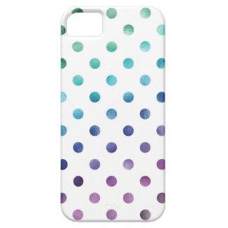Hoja metálica del arco iris púrpura azulverde funda para iPhone SE/5/5s
