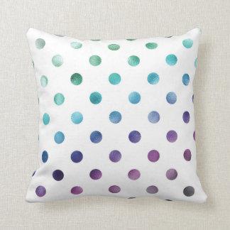 Hoja metálica del arco iris púrpura azulverde gris cojines