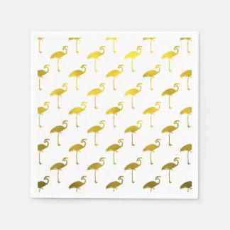 Hoja metálica del flamenco del oro amarillo falsa servilleta desechable