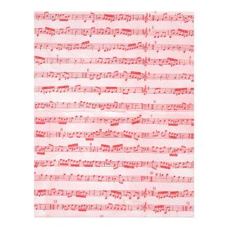 "Hoja musical roja del vintage folleto 8.5"" x 11"""