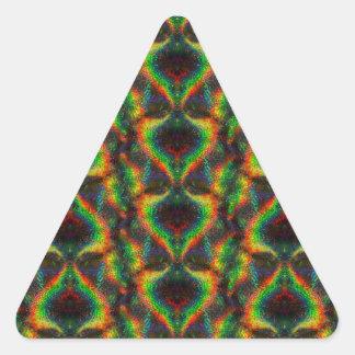 Hoja olográfica brillante del brillo de las luces pegatina triangular