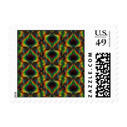 Hoja olográfica brillante del brillo de las luces timbres postales