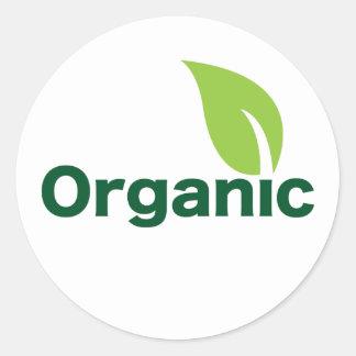 hoja orgánica etiquetas redondas