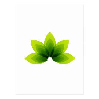 hoja orgánica postales