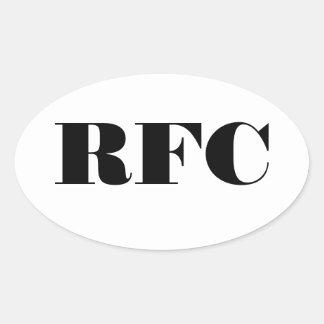 Hoja oval del pegatina del club del rugby del RFC