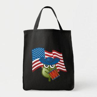 Hoja patriótica bolsas de mano