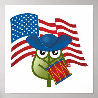 Hoja patriótica poster