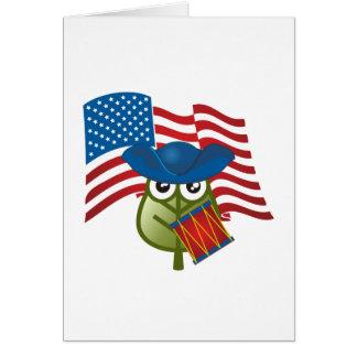 Hoja patriótica tarjetas
