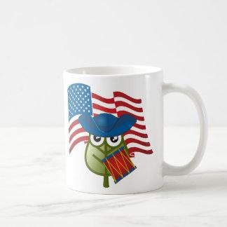 Hoja patriótica taza de café