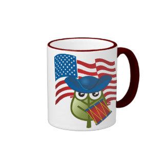 Hoja patriótica tazas