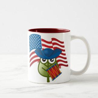 Hoja patriótica tazas de café