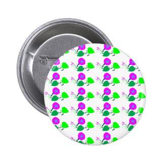 Hoja púrpura de la flor n de Lilly Pin Redondo De 2 Pulgadas