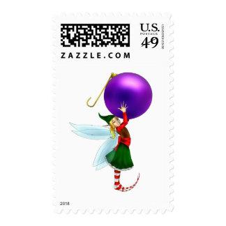 Hoja púrpura del sello de Fae del navidad del orna
