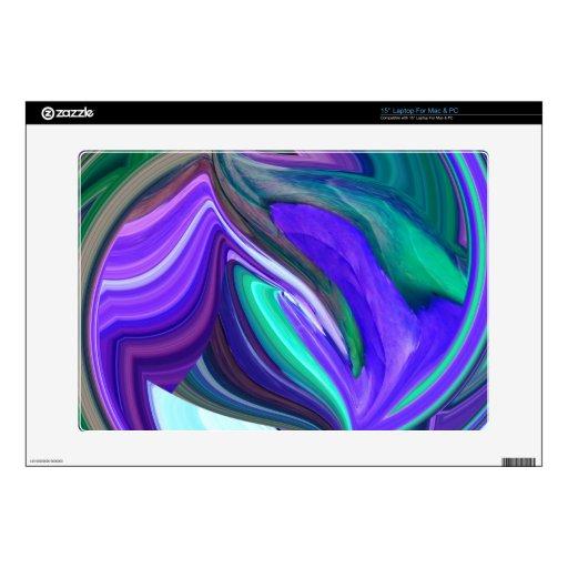 Hoja púrpura del trullo del arte abstracto N Skins Para 38,1cm Portátiles