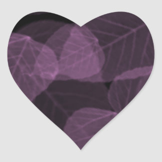Hoja púrpura X-Ray.png Pegatina En Forma De Corazón