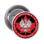 Hoja redonda de Polska Canadá Pins