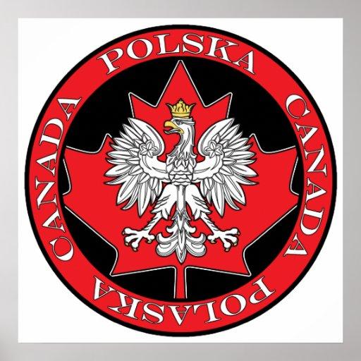 Hoja redonda de Polska Canadá Poster