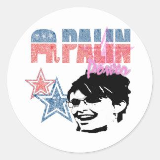 Hoja republicana del pegatina del poder de Palin