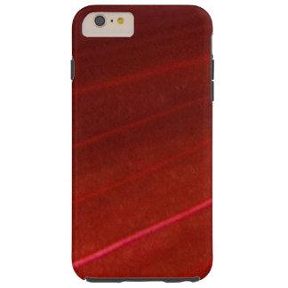Hoja roja abigarrada hawaiana funda para iPhone 6 plus tough