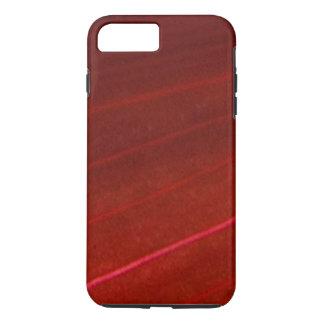 Hoja roja abigarrada hawaiana funda iPhone 7 plus