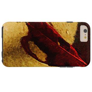 Hoja roja en impresionista del extracto de la funda de iPhone 6 plus tough