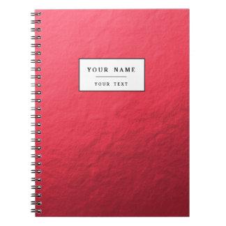 Hoja roja impresa cuadernos