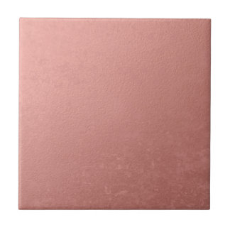 Hoja rosada coralina impresa azulejo cuadrado pequeño