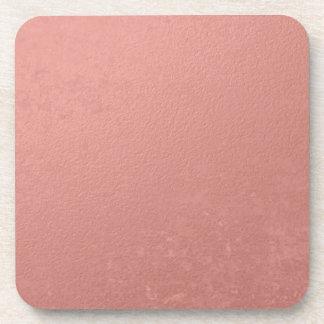 Hoja rosada coralina impresa posavaso