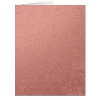 Hoja rosada coralina impresa tarjeta de felicitación grande