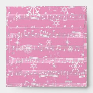 Hoja rosada del Musical del navidad del vintage