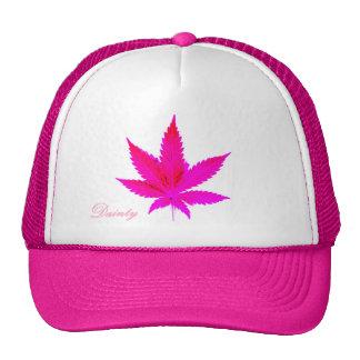 Hoja rosada delicada del pote gorros bordados
