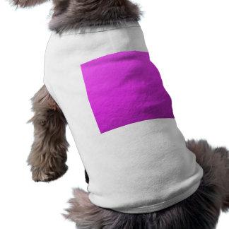 Hoja rosada impresa camiseta sin mangas para perro